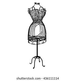 vintage mannequin icon
