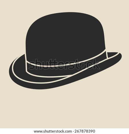 Vintage mans bowler hat