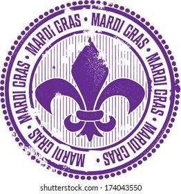 Vintage Mardi Gras Celebration Stamp