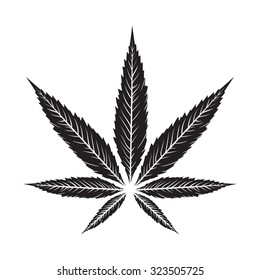 Vintage Marijuana vector