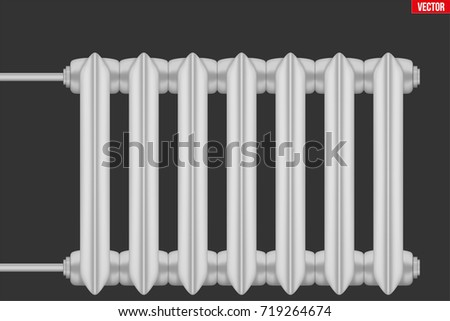 Vintage Metal Heating Radiator Central Heating Stock Vector (Royalty ...