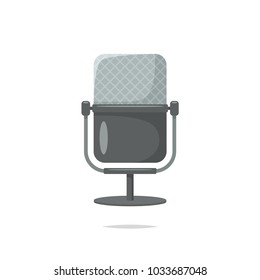 Vintage microphone vector isolated