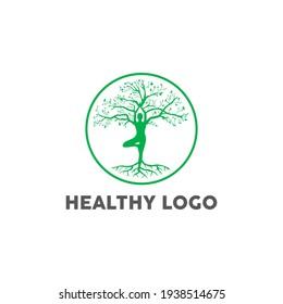vintage modern logo for healthy business
