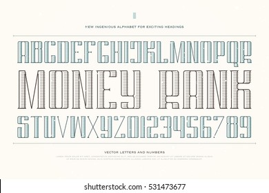 vintage money alphabet letters and numbers. vector font type design. decorative lettering symbols. stylized, regular typesetting. currency classic typeface template