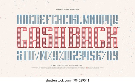 vintage money alphabet letters and numbers. vector font type design. old poster lettering symbols. stylized, business typesetting. currency classic typeface template