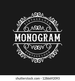Vintage monogram logo