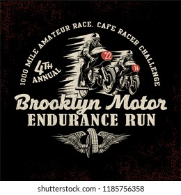 vintage motor racing vector illustration