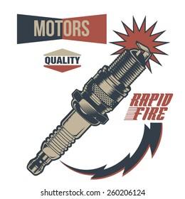 Vintage Motor Spark Plug Fuel