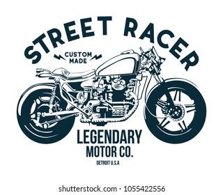 vintage motorbike t shirt / poster design vector file