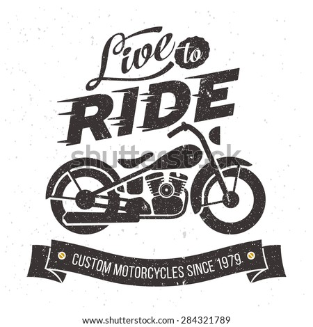2672a35b53df4 Vintage Motorcycle Design Live Ride Stock Vector (Royalty Free ...
