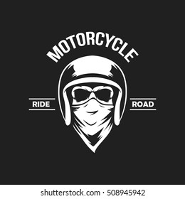 Vintage motorcycle emblems, labels, badges, logo template . Monochrome style.