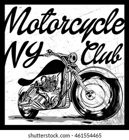 moto drive illustration silhouette motorcycle drawing stock vector Cafe Racer Seat vintage motorcycle hand drawn vector tee graphic design