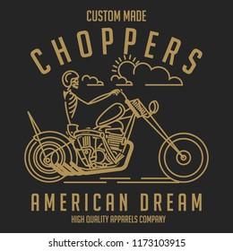 vintage motorcycle vector design for tee print