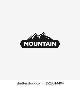 Vintage Mountain Logo Emblem Design Template