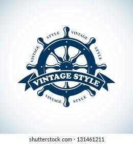 vintage nautical badge