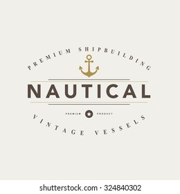 Vintage  nautical badges and labels.Vector eps10