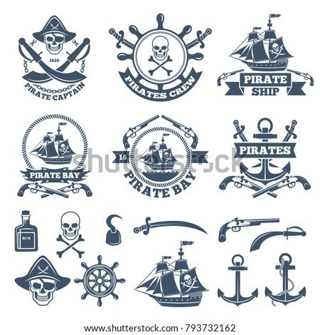 Vintage nautical and pirates