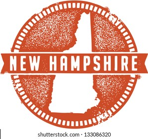 Vintage New Hampshire USA State Stamp