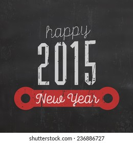 Vintage New Year Typographic Background