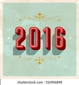 vintage new years eve card vector eps10 grunge effects can be easily removed for