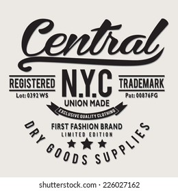 Vintage New York City typography, t-shirt graphics, vectors