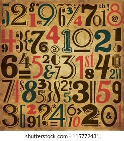 Vintage Numbers - Typographic Background