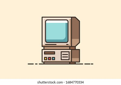 Vintage object from the 80s and 90s. Symbol of pop culture and nastolgia. Old-time technology from the entertainment industry.