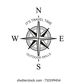 vintage or old different style like globe and arrows compasses for west and east, north and south navigation. Perfect for marine and nautical, ship and topography, maritime theme