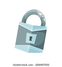Vintage old padlock vector Illustration