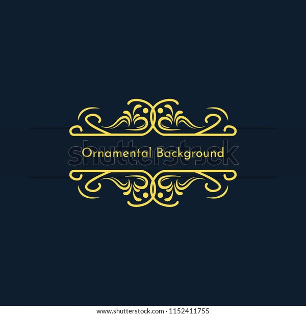 Vintage Ornament Decorative Background 15, Vector Eps.10