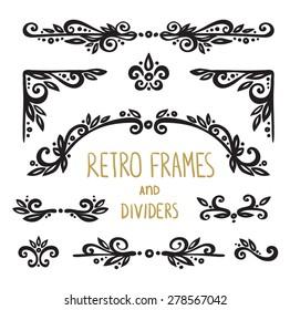 Vintage Ornamental Calligraphic Designs Set