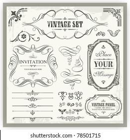 Vintage ornamental and page decoration design elements.