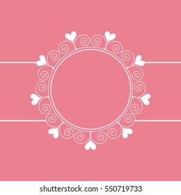 Vintage ornamental valentines day vector background