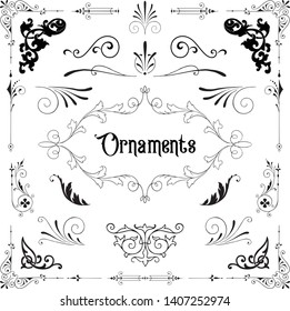 Vintage Ornaments - A set of classic, victorian style ornaments.
