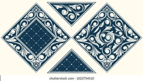 Vintage ornate decorative design elements