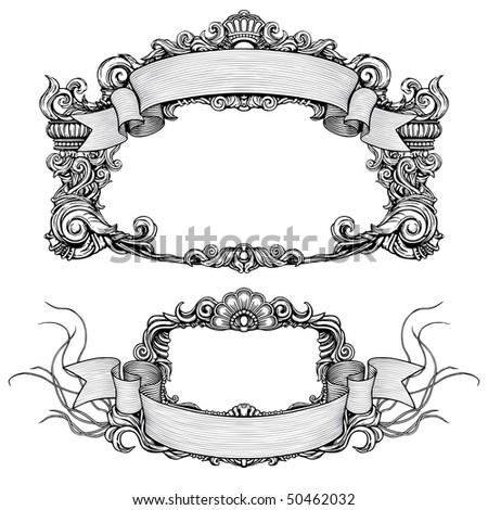 Vintage Ornate Detailed Frames Scroll Stock Vector (Royalty Free ...