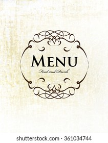 vintage ornate frame menu design