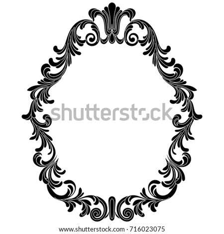 Oval Frame Filigree Vintage Drawing Pictures | www.picturesboss.com