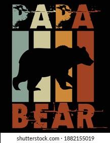 Vintage Papa Bear Tees Design