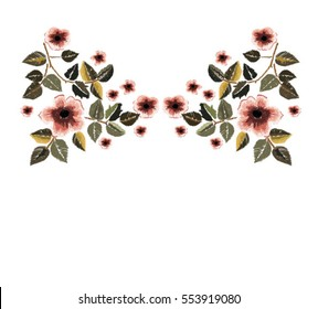 vintage patch embroidery flowers