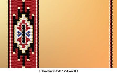 Vintage Pattern Blank Greeting Card Background