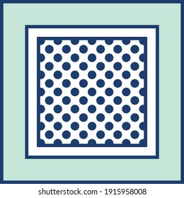 Vintage pattern, polka dots background.Vector patch for print, fabric, scarf design.