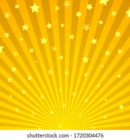 Vintage pattern with stars of different size on retro background. Vector illustration.