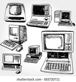Vintage PC Hand Drawn