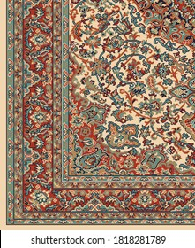 Vintage persian design in vector format for Printing