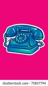 Vintage Phone Illustration