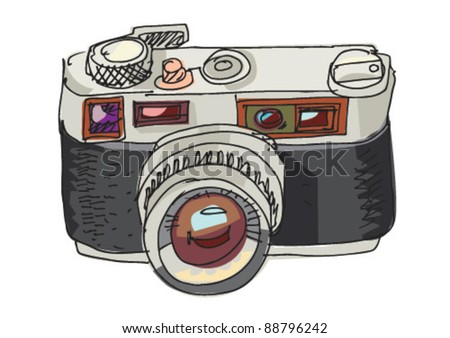 Camera Vintage Vector Png : Vintage photo camera cartoon stock vector royalty free
