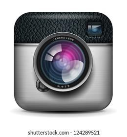 Vintage photo camera icon