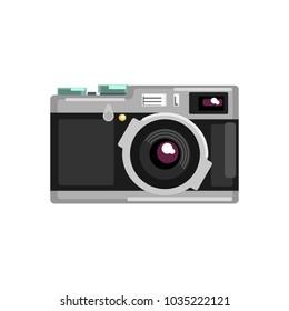 Vintage photo slr camera vector Illustration on a white background