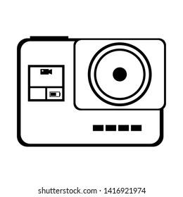 Vintage photographic camera symbol isolated vector illustration graphic design